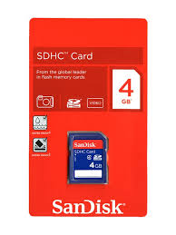 SANDISK MICRO SD CARD 4GB WITH ADAPTER