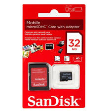 SANDISK MICRO SD CARD 32GB WITH ADAPTER
