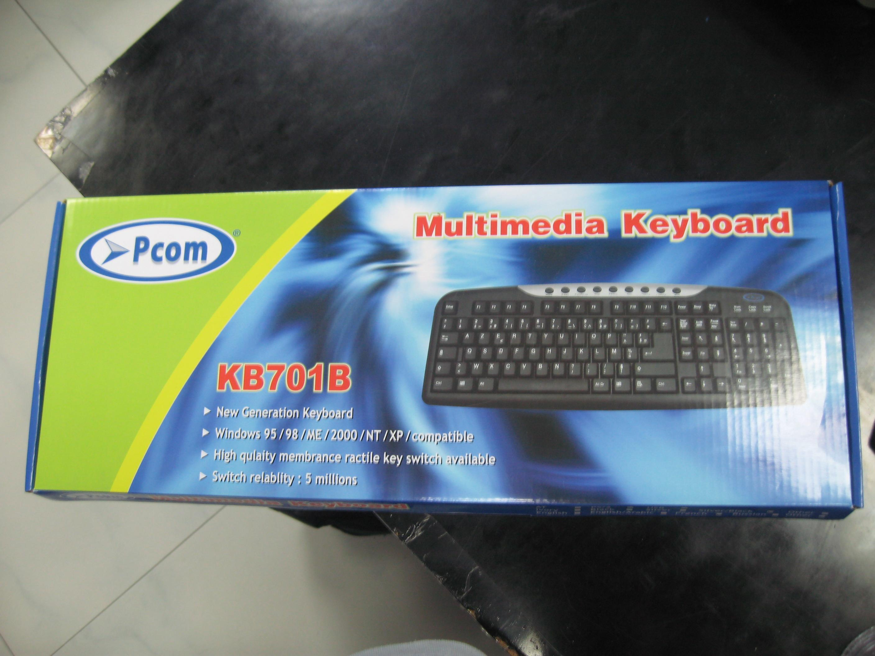 PC 701B ENGLISH PS2 MULTIMEDIA KEYBOARD