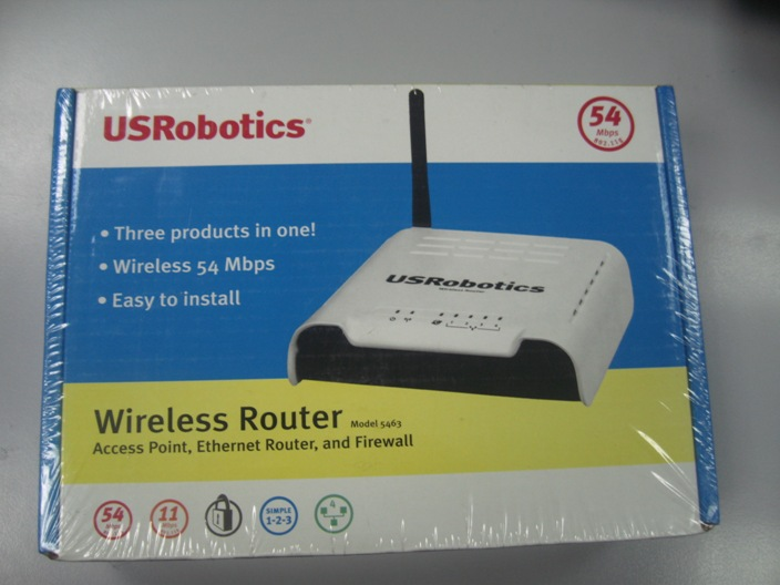 US ROBOTICS 5463 54 MBPS WIRELESS ROUTER