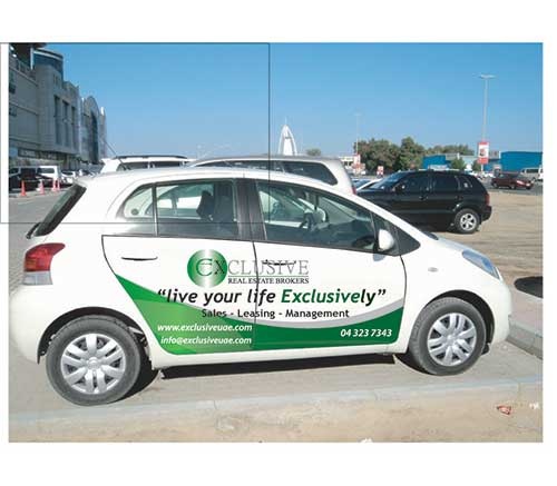 Vehicle Graphics - Exclusive Real Estate Brokers